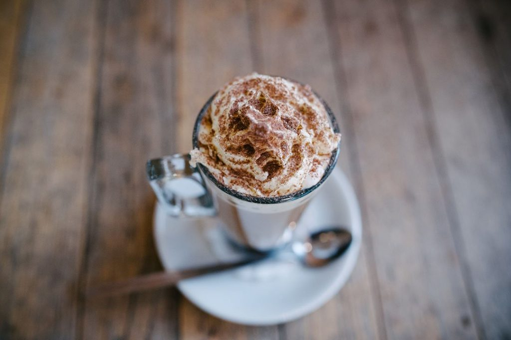 Hot chocolate in winter