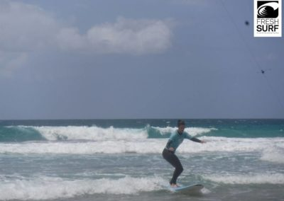 surfing at cotillo beach