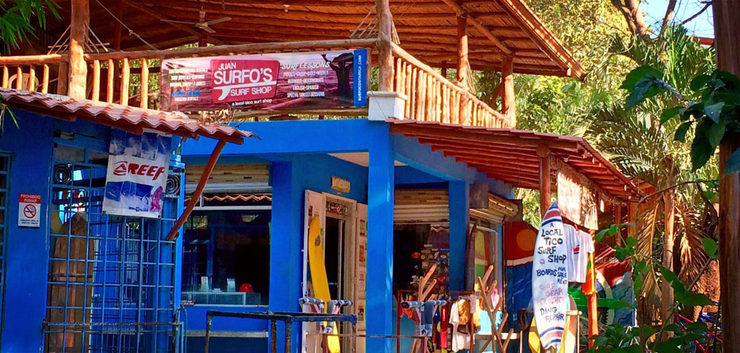 Surfshop in Costa Rica